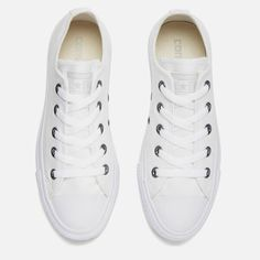 e50c40efeca5 Converse Chuck Taylor All Star Ox Canvas Trainers - White Monochrome