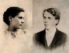 Robert Frost and Elinor Miriam White, his wife.