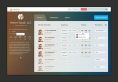 Admin Panel UI Graphic Design for Arazoo by Nick St.