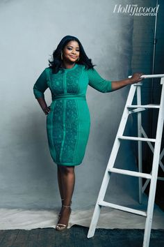 octavia spencer - I want to try a dress like this.  But wish they had a built in Spanx pannel