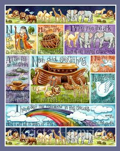 Noahs Ark    This is a digital print of my original artwork. It is printed using Epson Ultrachrome K3 inks on 100% cotton rag fine art paper. Image