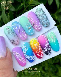 Monogram Nails, Ren, Nails Design, Beauty Nails, Art Drawings, Nail Art, Antique, Floral, Painting