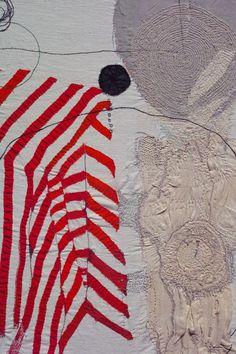 embroidery art by Junko Oki Textile Texture, Textile Fiber Art, Textile Artists, Abstract Embroidery, Embroidery Art, Embroidery Stitches, Textiles, Textile Patterns, Boro