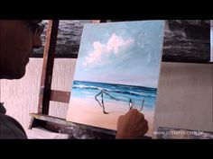 Demonstration of simple floral abstract painting using acrylic paints. Acrylic Painting For Beginners, Painting Videos, Painting Lessons, Painting Techniques, Beach Art, Watercolor Landscape, Channel, Fashion, Palette Knife Painting