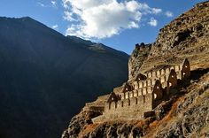 Ruins of Ollantaytambo (called by locals Ollanta) is a town in the Sacred Valley of the Incas near Cuzco in the Southern Sierra region of Peru. This is where the Incas retreated after the Spanish took Cuzco. Much of the town is laid out in the same way as it was in Inca times.