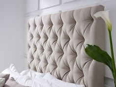 Add a touch of luxury to your master bedroom with the Elise Tall Deep Buttoned Headboard Bed, available in 2 head board sizes large or small