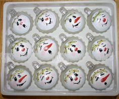 Handpainted snowmen