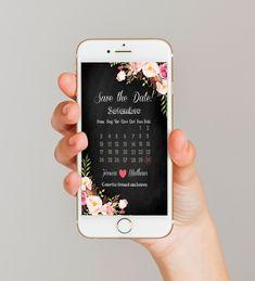 """Save the date - Digital O save the date é enviado antes do convite, para que seus convidados se programem e """"reservem esta data"""" antecipadamente. Você receberá a arte digital em alta resolução, em JPG para que possa enviar por WhatsApp, E-mail, Facebook ou outra rede social. Somente a arte..."""
