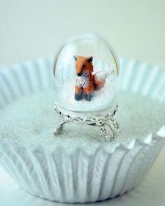 fox snow globe - Google Search