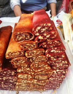 Tuhtoo Lavash. #Armenian fruit roll-ups. These have nuts inside. #Nom #Armenia