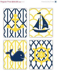 Nautical Nursery Whale Nursery Art Nautical Nursery Boy | patty ...