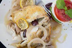 Lemon Kalamata Chicken Breasts with Caprese Salad - Wild Diet Book