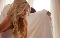 pretty half up/down wedding hair from the front it will still look all down
