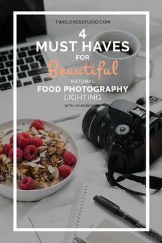 4 Must Haves For Beautiful Natural Food Photography Lighting | Create soft, glowing light around your house for epic food photography with just 4 simple things. Pin to save for later!