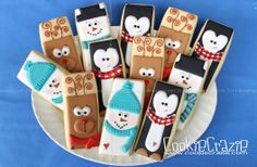 Winter Rectangle Buddy Cookies | http://www.cookiecrazie.com