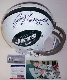 32d11f89c Joe Namath Autographed Hand Signed New York Jets Throwback Full Size Helmet  - PSA/DNA.