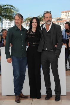Eva Green, Cannes 2015, with Mads Mikkelsen and Jeffrey Dean Morgan