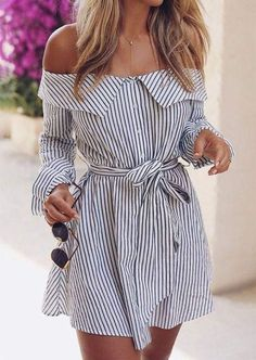 The Best Striped Dress Outfit Ideas For Summer 06