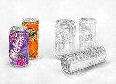 1. 구도설정  2. 스케치  3. 기본톤1  4. 기본톤2  5. 양감  6. 묘사, 마무리 웰치스, 미린다, 하이트, 실론티, 파워에이드, 수채화, 미술, 그림, 서양화, 입시, 정물화, 정물수채화, 대구, 화실 Food Illustrations, Still Life, Shot Glass, Art Drawings, Watercolor, Tableware, Sweet, Crafts, Image