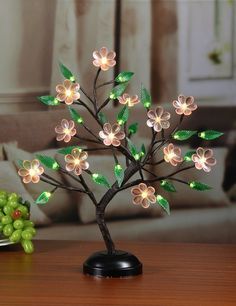 Lightshare Big Blossom Flower Bonsai Light Pink Flower Green LeafBattery Powered or Plugin Adapter not included Builtin timer Dcor for HomeFestivalPartyChristmas >>> Home decor details can be found by clicking on the image. Nylon Flowers, Wire Flowers, Paper Flowers Diy, Jute Crafts, Diy And Crafts, Paper Basket Weaving, Led Decorative Lights, Deco Led, Light Pink Flowers