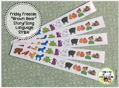 Freebie:  Brown Bear, Brown Bear Story/Song Visual