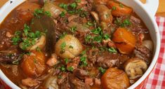 Old Fashioned Beef Stew aka Beef Bourguignon is meltingly tender and easy to eat for a Bariatric person. Plus Delish for family. -- O-m-g sooo good! Definitely making again and again. Bariatric Eating, Bariatric Recipes, Bariatric Surgery, Beef Recipes, Cooking Recipes, Healthy Recipes, Healthy Soup, Best Beef Bourguignon Recipe, Old Fashioned Beef Stew