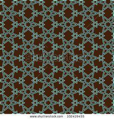 Vector pattern on islamic motif