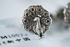 NEW  Peacocks CuffLinks  Made in USA Components by blackpersimmons, $19.00