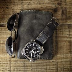 Watch, wallet, and sunglasses. And I'm ready for the day. Nice