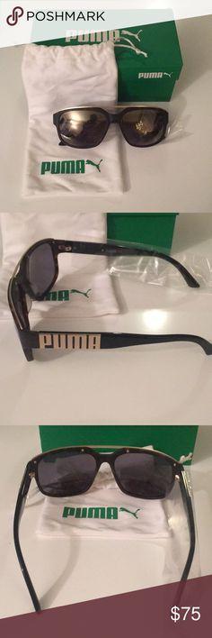 b42a865cd849 Brand New Puma Men s Black and Gold Sunglasses. 😎 Brand New Men s Black  with Gold detailing Sunglasses Puma Accessories Sunglasses