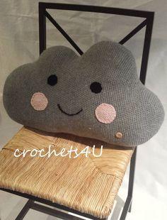 crochet pattern cloud cloud pillow nursery crochet by Crochets4U
