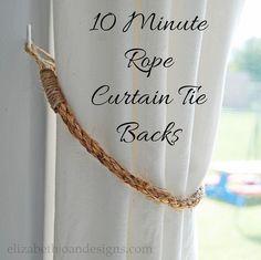 10 Minute Curtain Tie Backs
