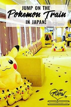 Want to do something different in Japan? Hop on board the Pokemon Train in Japan and relive your childhood on this one of a kind Japanese experience! Tokyo Travel Guide, Japan Travel Guide, Tokyo Japan Travel, Asia Travel, Pokemon Go, Go To Japan, Japan Trip, Tokyo Trip, Tokyo Vacation