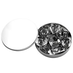 Outflower Set of 24 Stainless Steel Cake Rings Baking Mold Circle Round Heart Flower Triangle Square ** Check out this great product. (This is an affiliate link) Steel Cutter, Triangle Square, Cake Decorating Tools, Baking And Pastry, Gum Paste, Cookie Cutters, Rings For Men, Stainless Steel, Cookies