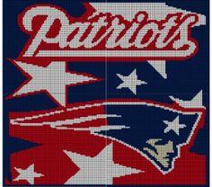New England Patriots Crochet Afghan Pattern Graph