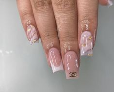 Acrylic Nails Coffin Pink, Short Square Acrylic Nails, French Acrylic Nails, Arylic Nails, Work Nails, Drip Nails, Luxury Nails, Minimalist Nails, Nagel Gel