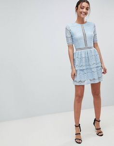 36282ab62e Missguided Tall Lace Layered Mini Dress