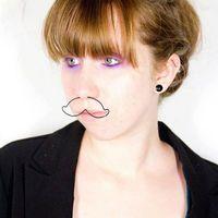 Nose piercing- mustache