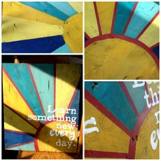Beneath the Rowan Tree: Learn Something New Every Day :: A Distressed and Painted Sign Tutorial