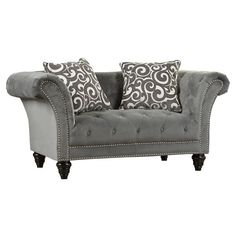 """Faye 68"""" Chesterfield Loveseat ❤ liked on Polyvore featuring home, furniture, sofas, chesterfield loveseat, chesterfield style sofa, chesterfield furniture, chesterfield sofa and chesterfield couch"""