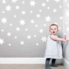49 White Stars Wall Decals Stickers Removable & par WallDressedUp