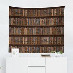 Amazing deals on bookcase tapestry wall hanging book case books Dorm Tapestry, Tapestry Wall Hanging, Tapestries, Porch Railing Designs, Book Wall, Tapestry Design, College Dorm Rooms, Living Room Art, Retro Vintage