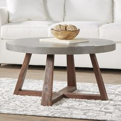 Coffee table design above is a really praiseworthy as well as contemporary layouts. Hope you understand or motivation for your modern coffee table. Round Coffee Table Diy, Concrete Coffee Table, Coffee Table Plans, Rustic Coffee Tables, Coffe Table, Coffee Table Design, Cement Table, Circular Coffee Table, Coffee And End Tables