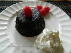 Amazing Flourless Low Fat Chocolate Molten Cake