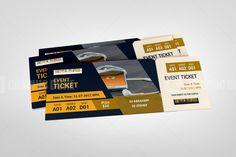Graphic Design Flyer, Graphic Design Templates, Print Templates, Flyer Design, Event Ticket Template, Flyer Template, Event Tickets, Gift Card Template, Postcard Template