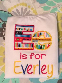 Back To School Appliqued Shirt by AndSewOn30 on Etsy