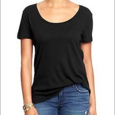 Basic Black Tee NWOT, basic black tee, loose fitting. I have too many in my closet! GAP Tops Tees - Short Sleeve