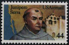 Junipero Serra, Majorcan Spain Franciscan friar 1713-1784, postage stamp, USA,1985 44c