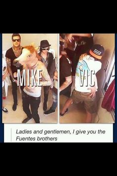 "lol. I saw them at Spring Fever with my friend and honestly, I think she was a ""little"" afraid of Mike and Tony"