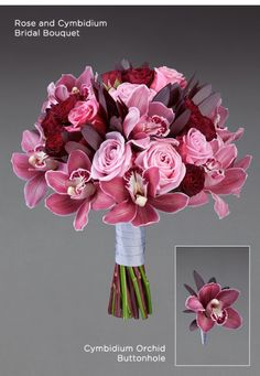 Vera Wang Rose and Cymbidium Bridal Bouquet